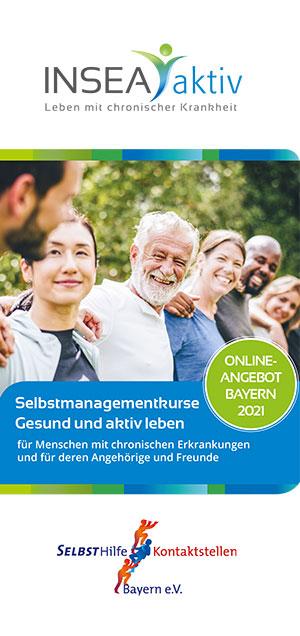 Cover INSEA aktiv Flyer 2021 der SEKO Bayern - Selbstmanagementkurse, Gesund und aktiv leben