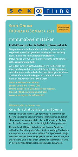 Cover SEKO- Online - Onlinekurse SEKO Bayern